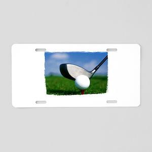 Unique Golf Aluminum License Plate