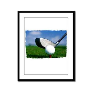 Unique Golf Framed Panel Print
