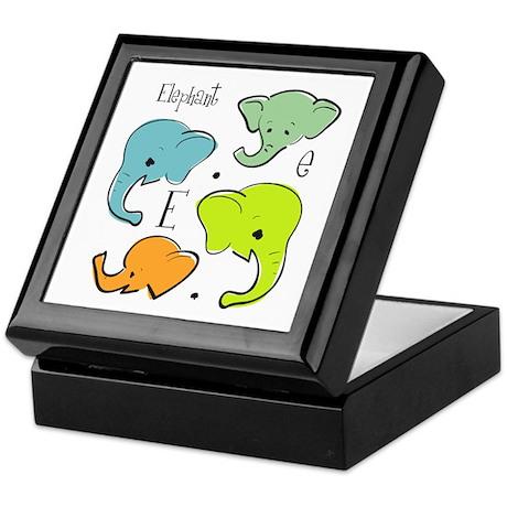 """E is for Elephant"" Keepsake Box"