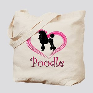 Heart My Poodle Tote Bag