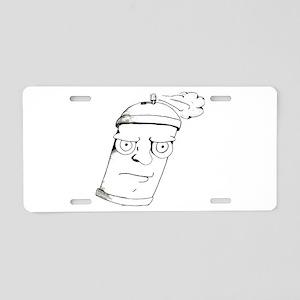 Spray Man Aluminum License Plate