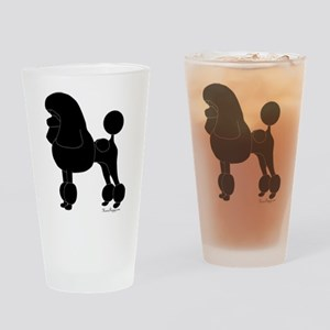 Poodle Silhouette Drinking Glass