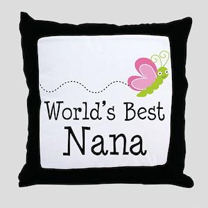 World's Best Nana Throw Pillow
