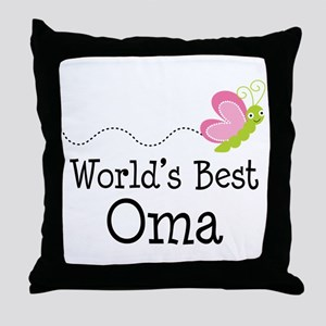 World's Best Oma Throw Pillow