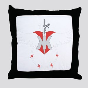 Heart Wings Barb Wire Throw Pillow