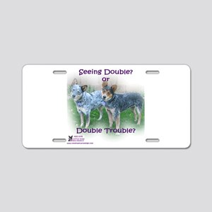 Double Trouble ACDs Aluminum License Plate