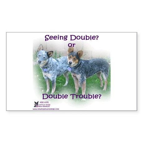 Double Trouble ACDs Sticker (Rectangle)