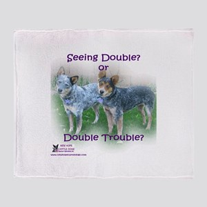 Double Trouble ACDs Throw Blanket