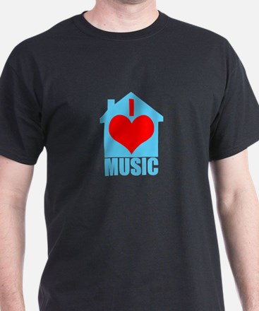 I Love House Music - House silhoutte T-Shirt