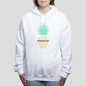 Sigma Delta Tau Pineappl Women's Hooded Sweatshirt