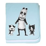 Panda and cats baby blanket