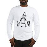 Panda and cats Long Sleeve T-Shirt