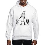 Panda and cats Hooded Sweatshirt
