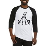 Panda and cats Baseball Jersey