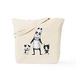 Panda and cats Tote Bag