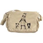 Panda and cats Messenger Bag