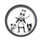 Panda and cats Wall Clock