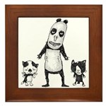 Panda and cats Framed Tile