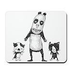 Panda and cats Mousepad