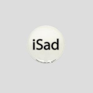 iSad Black - Mini Button