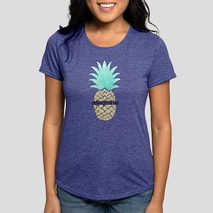 Sigma Delta Tau Pineapple Womens Tri-blend T-Shirt