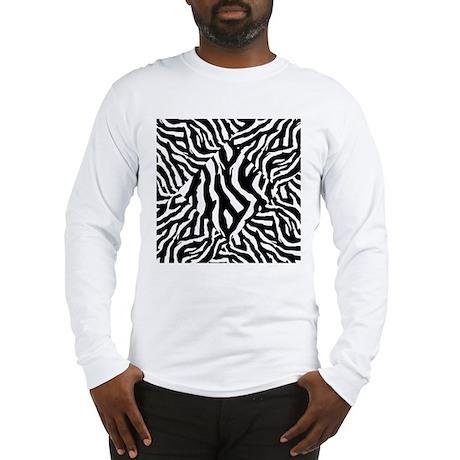 Zebra Print Pattern Long Sleeve T-Shirt