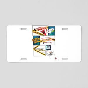 Comics Aluminum License Plate