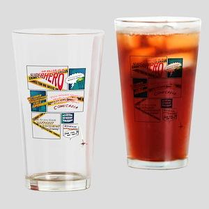 Comics Drinking Glass