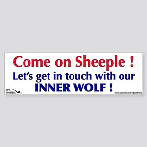 Come On Sheeple! Sticker (Bumper)