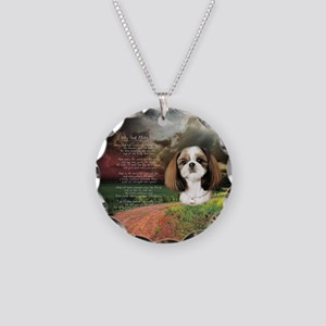 """""""Why God Made Dogs"""" Shih Tzu Necklace Circle Charm"""