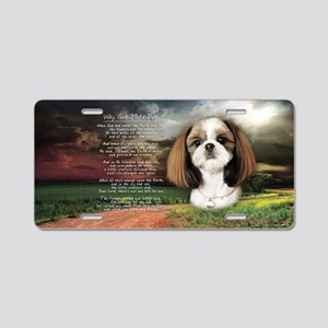 """Why God Made Dogs"" Shih Tzu Aluminum License Plat"
