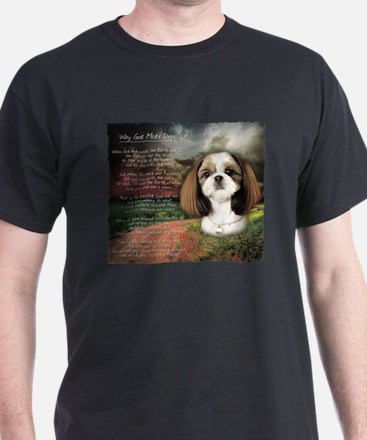 """Why God Made Dogs"" Shih Tzu T-Shirt"