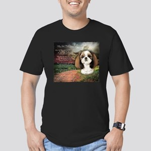 """""""Why God Made Dogs"""" Shih Tzu Men's Fitted T-Shirt"""
