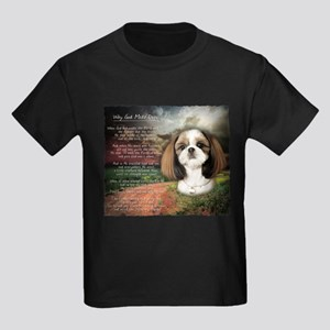 """Why God Made Dogs"" Shih Tzu Kids Dark T-Shirt"