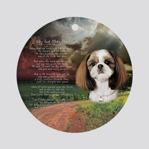 """Why God Made Dogs"" Shih Tzu Ornament (Round)"