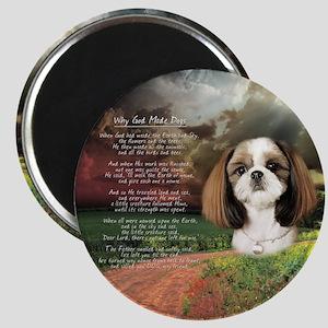"""Why God Made Dogs"" Shih Tzu Magnet"