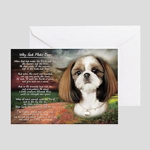 """Why God Made Dogs"" Shih Tzu Greeting Card"