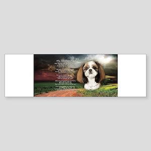 """""""Why God Made Dogs"""" Shih Tzu Sticker (Bumper)"""
