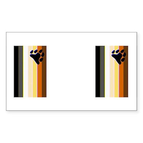 BEAR PRIDE FLAG_VERTICAL_2IMAGES Sticker (Rectangu