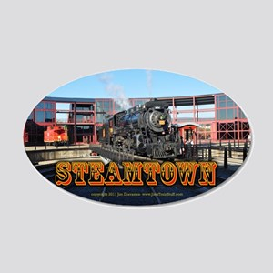 Train Photos of Steamtown- 22x14 Oval Wall Peel