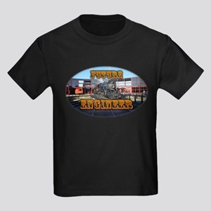 Future Engineer(c) - Train - Kids Dark T-Shirt
