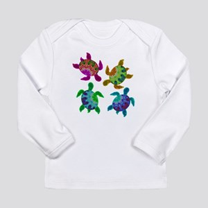 Multi Painted Turtles Long Sleeve T-Shirt