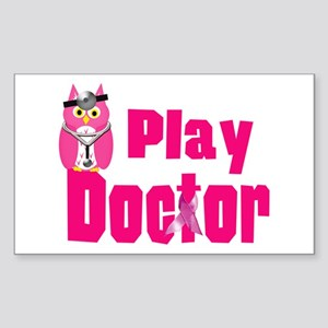 Play Doctor Sticker (Rectangle)