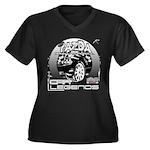 Mazda Women's Plus Size V-Neck Dark T-Shirt