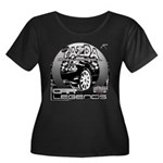 Mazda Women's Plus Size Scoop Neck Dark T-Shirt