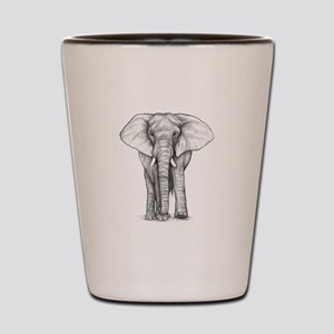 Elephant Drawing Shot Glass