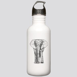 Elephant Drawing Stainless Water Bottle 1.0L