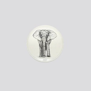 Elephant Drawing Mini Button