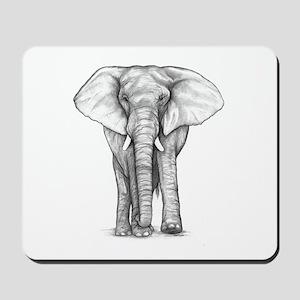 Elephant Drawing Mousepad