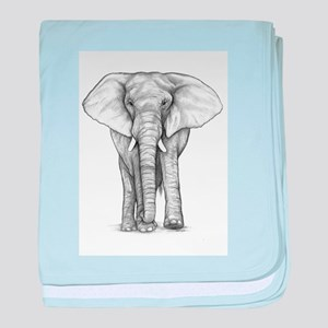 Elephant Drawing baby blanket